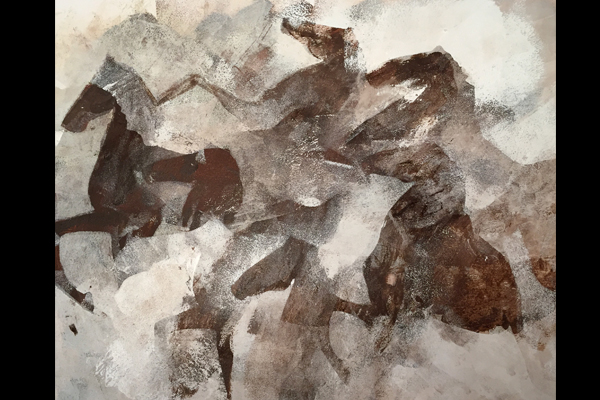 peinture-chevaux-horse- cheval acrylic painting-clotilde hulin